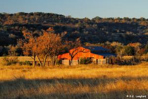 Autumn on Hillingdon Ranch - autumn adorns the hay barn