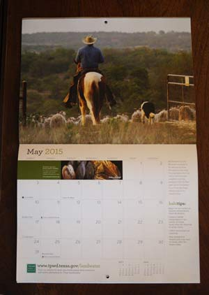 Texas Parks & Wildlife 2015 Calendar