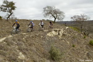 Winter on Hillingon Ranch - Flat Rock Ranch mountain bikers